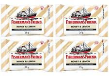 4 packs x 25g Fisherman s Friend Honey + Lemon Flavour Lozenges Sugar Free Candy