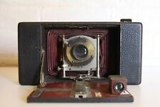 ANTIQUE ANSCO Automatic Red Bellows folding leather Camera