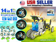 DIY Assemble 14-in-1 Educational Solar Power Transformers Robot in Retail Box