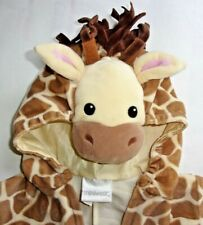 Miniwear Infant 0-3 Mo.Giraffe Plush Jumpsuit Outfit Zip Hooded Costume Lkn!