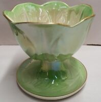 Australian Pottery Wembley Ware Dessert Comport c1946-61 Parfait Lt Green Lustre