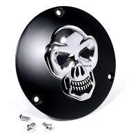 3D Skull Kupplungsdeckel für Harley Davidson Totenkopf Derbycover Schwarz - 1999
