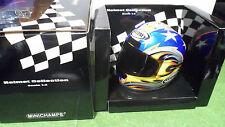HELMET CASQUE BOSTROM LAGUNA SECA 2001 MOTO 1/2 d MINICHAMPS 326011295 miniature