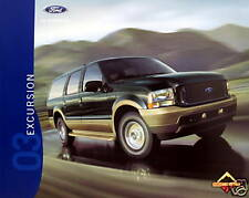 2003 Ford Excursion SUV new vehicle brochure