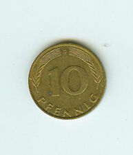 BRD moneta 10 Pfennig 1980d 80 D
