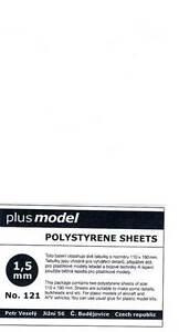 Plus model - Plastique Plaques 1,5 MM 1,5mm 110-190mm 2 Pièce Neuf Ovp Astuce
