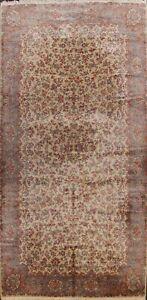 Traditional Floral IVORY Kirman Karastan USA Oriental Area Rug Large Wool 10x18