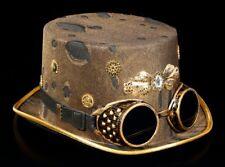Steampunk Hut mit Brille - Whitby Wanderer - Gothic Fasching Schutzbrille Deko