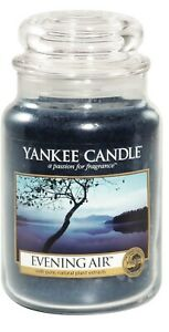 """NEW..'YANKEE CANDLE'~""""EVENING AIR"""" Large 22oz, Rare Label...Romantic, Ambiance"""