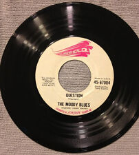 """The Moody Blues - Question / Candle Of Life - VG+ 7""""  Vinyl Single 45"""