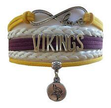 Minnesota Vikings Football Infinity Bracelet Jewelry Apparel