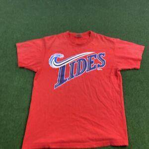 Vintage 1998 Norfolk Tides Baseball T-shirt Tee Sz med Red MiLB 90s Minor League