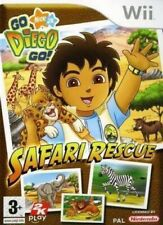Nintendo Wii juego-go diego go! Safari Rescue inglés con embalaje original