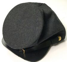 CIVIL WAR CSA CONFEDERATE DARK GRAY WOOL FORAGE CAP HAT-MEDIUM