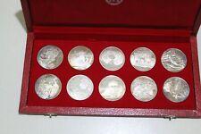 10 Silbermünzen, Tunesien, Ag .925, TOP