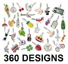 360 Desings Lobster Clasp Single Clip on Charm Link & Sabo Fit + FREE GIFT .