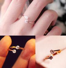 Women Crystal Finger Open Ring Adjustable for Bridal Enagement Rings