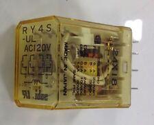 IDEC AC120V RELAY LOT OF 4  RY4S-UL