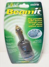irock! Beamit Wireless Music Adapter Model 440FM Transmitter Car Stereo Audio