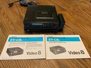 Sony EV-C8U Video 8 Cassette Recorder Player Deck - Tested for power & eject