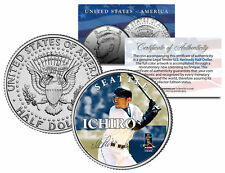 ICHIRO SUZUKI Collectible JFK Kennedy Half Dollar Colorized U.S. Coin *SEATTLE*
