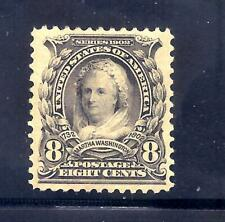 US Stamps - #306 - MLH - 8 cent Martha Washington Issue - CV $45