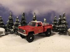 1979 Chevy K10 4x4 Fire Truck Lifted 1/64 Diecast Custom Farm Square Body M2