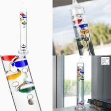 Termometro de Galileo de vidrio,18-26ºC, aprende fisica, altura 29 cm,decorativo