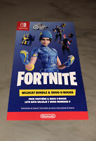 NEW Unscratched Nintendo Switch Fortnite Wildcat Bundle CODE ONLY +2000 V Bucks