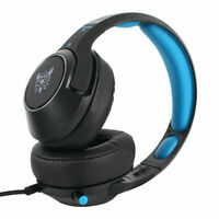 Gaming Headset Blue LED Headphones Stereo Surround For PS4 Xbox one X 360E PC BH