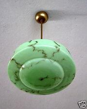 Alte Deckenlampe E 27 Lampe, Hängelampe, grün marmoriert, Art deco D-messer39cm