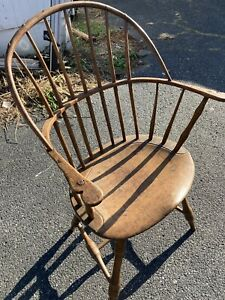 Circa 1790 Sack Back Windsor Arm Chair Fantastic Look Must See