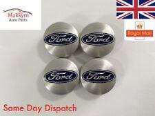 4x Ford Silver Wheel Centre Caps Hub Caps 54mm OEM 6M211003AABL Focus Fiesta KA