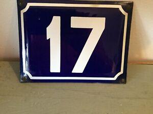 Vintage French Enamel House Number Sign