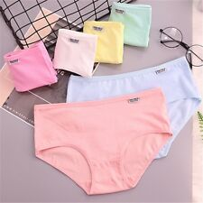 Women's Cotton Underwear Breathable Panties Stretchy Briefs Underpants Knickers