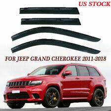 Window Visors Shades Shade Visor Rain Guards For Jeep Grand Cherokee 2011-2018