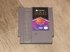 Taboo The Sixth Sense Nintendo Nes Cleaned & Tested Authentic