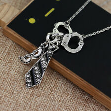 Fifty Shades Of Grey Darker Handcuffs Masquerade Mask Tie Necklace Jewelry G