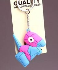 Pokemon Porygon Rubber Keychain 2 Inches US Seller