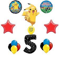 Pokemon  Level Up Happy 5th Birthday Balloon Decorating Kit