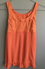 Lululemon Top Tank bra,Size 2 creamsicle orange work out active yoga MINT