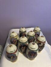 Complete set of 24 M.I. Hummel Classic Heirloom Porcelain Spice Jar Collection