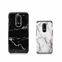 For OnePlus 6T Shockproof Marble Hard TPU Rubber Hybrid Dual Layer Plastic Case
