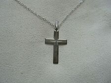 925 SILVER CHAIN AND STERLING SILVER CROSS CRUCIFIX PENDANT