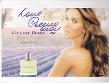 "Celine Dion ""Rare"" Signed Spring In Provence 8X10 Photo With Free Magazine"