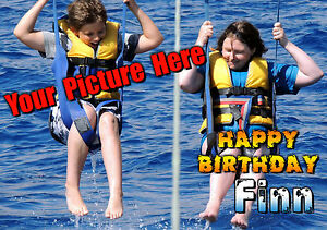 PERSONALISED Happy Birthday / Greeting card with YOUR PHOTO eg. family pets hols
