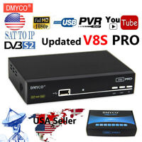 DMYCO V9S PRO DVB-S2 FTA Satellite TV Receiver Decoder 1080P suppor full Powervu