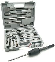 17Pc Drill & Chisel Set SDS Plus Drill Bits & SDS-MAX TO SDS-PLUS Adapter