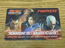 New Namco Player'S Data Card For Tekken 5 Fighting Arcade Games