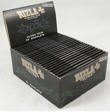 50X RIZLA BLACK KING SIZE SLIM ULTRA THIN FINEST CIGARETTE ROLLING PAPER SMOKING